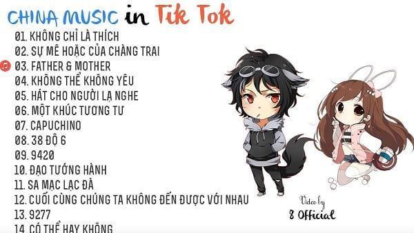 Tik Tok Chinese Song List